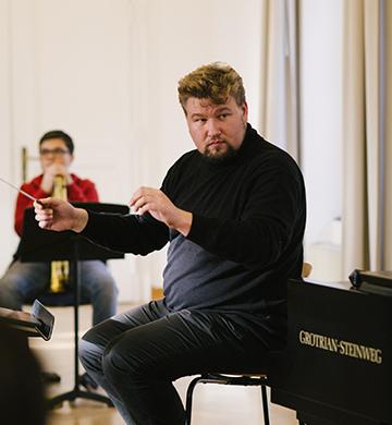 Steffen dirigiert